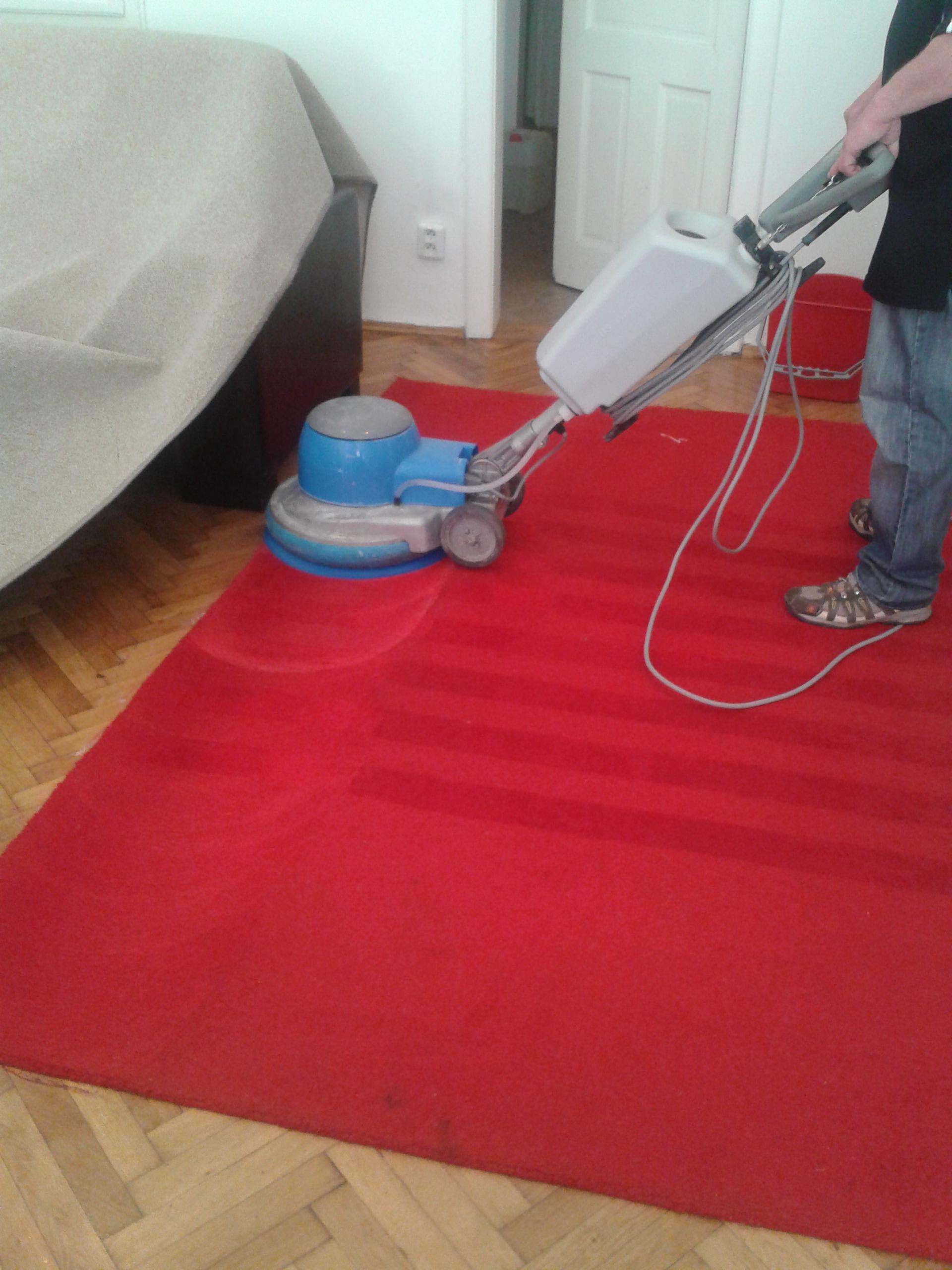 Strojové čistenie kobercov a tepovanie